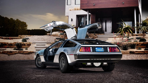 Электромобиль DeLorean!